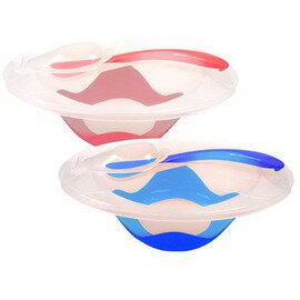 PUKU藍色企鵝 - 附蓋止滑餐碗組 (水藍/粉紅) 0