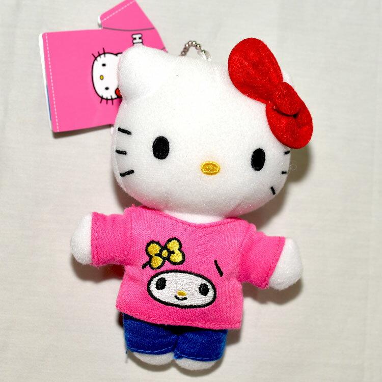 Hello Kitty 穿Melody衣服 小玩偶 吊飾 日本帶回正版品