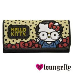 【Loungefly】Hello Kitty聯名款長夾-學院 LFSANWA0635《品文創》