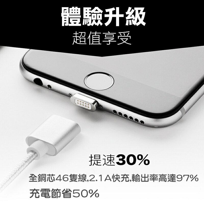 iPhone 充電線 磁吸 磁鐵 高效率充電線 2.4A快充 蘋果 安卓 Typc-C 充電線 磁吸線 蘋果充電線 USB磁力充電線【GP美貼】