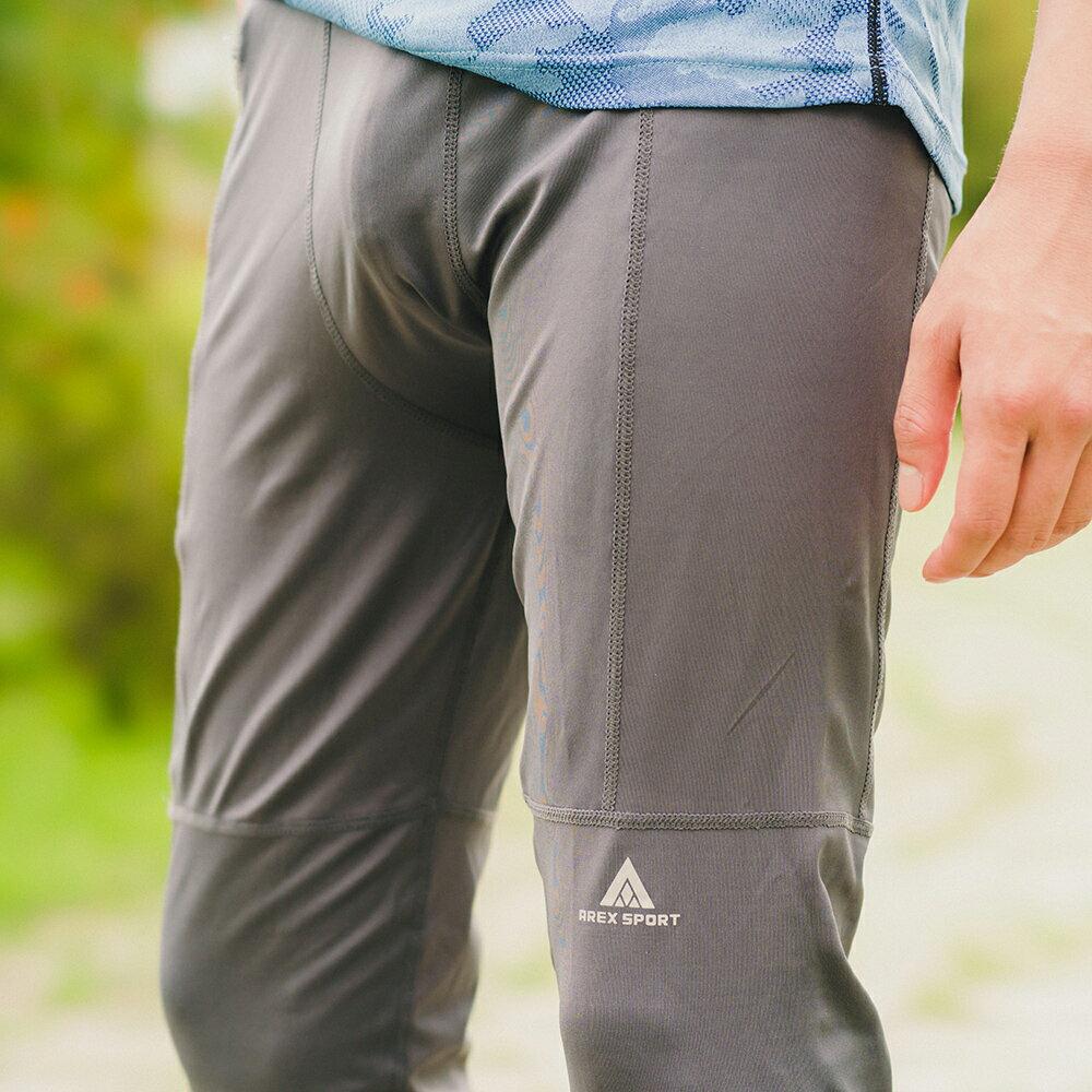 AREXSPORT機能收納男收腹彈力吸排高腰緊身運動褲 AS-7157 黑 S~2L (健身 / 健走 / 戶外休閒 / 重訓 / 瑜珈) 6