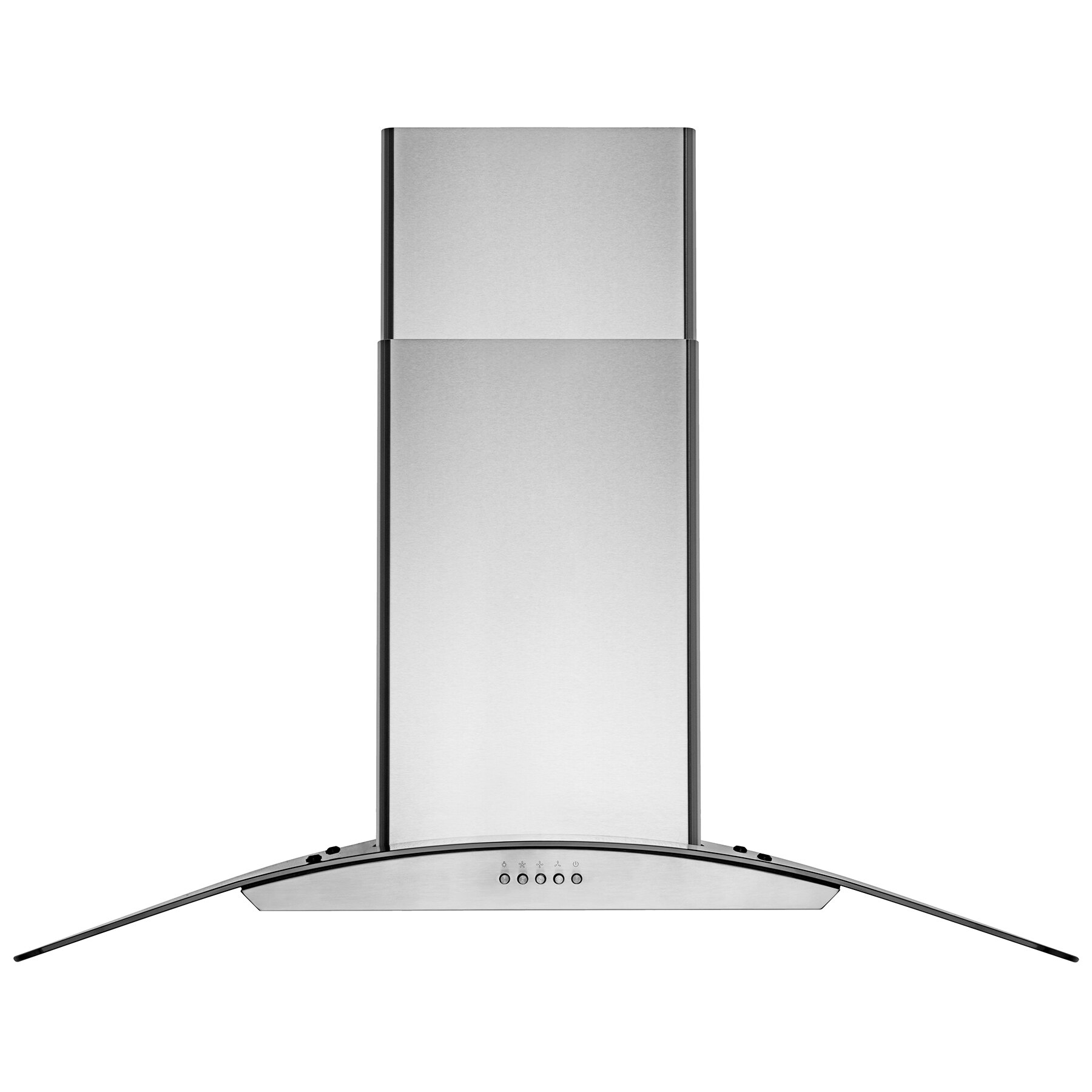 "AKDY 36"" Wall Mount Stainless Steel Tempered Glass Push Panel Kitchen Range Hood Cooking Fan 2"