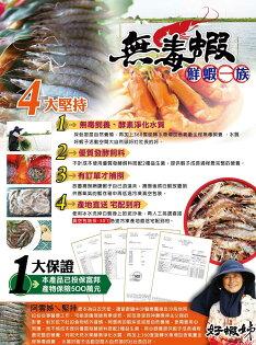 【冷凍宅配免運】合迷雅無毒蝦3斤-大蝦(每斤約27-30隻)-SGS檢驗