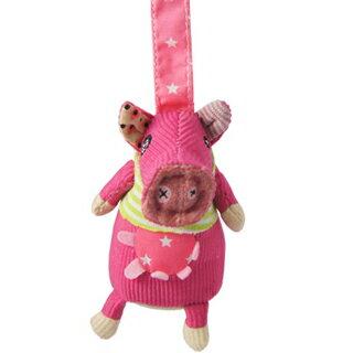 【全新品3折出清】法國【 DEGLINGOS】布偶吊飾 - 豬
