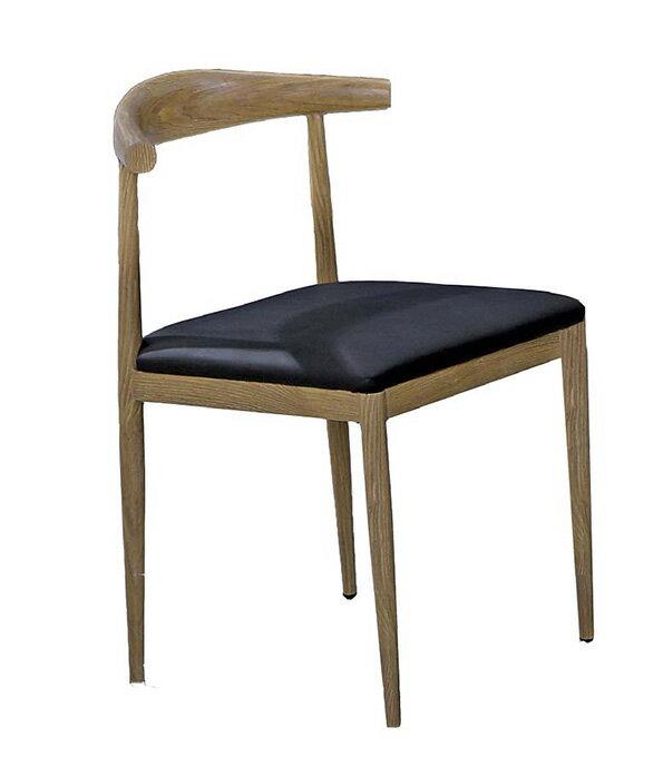 ~ 尚品傢俱~JF~486~11 漢斯木紋牛角餐椅