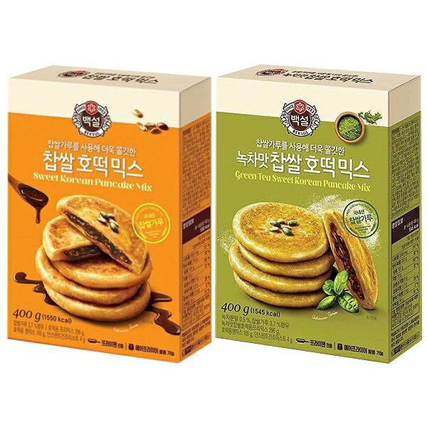 韓國 CJ DIY糯米糖餅粉(400g) 黑糖/抹茶口味 款式可選【小三美日】◢D231853
