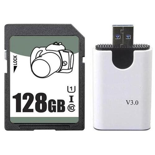 OEM 128GB 128G SD SDHC SDXC Card Class 10 Ultra High Speed UHS-I for Camcorder w/ USB 3.0 Reader 0