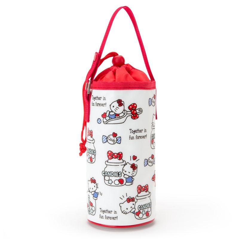 【真愛日本】18031500001 水壺保冷手提袋-KT加ACC 三麗鷗 kitty 凱蒂貓 水壺保冷手提袋