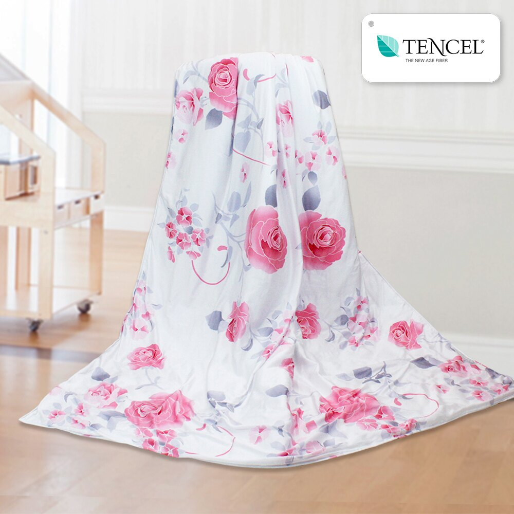 天絲涼被  300織  tencel  古典玫瑰粉  100%奧地利天絲 鴻宇 M2503