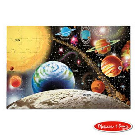 美國瑪莉莎 Melissa & Doug 大型地板拼圖太陽系行星48 片