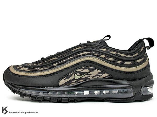 2018台灣未發售NSW經典復刻慢跑鞋NIKEAIRMAX97AOPTIGERCAMO黑色虎紋迷彩3M全氣墊子彈慢跑鞋'971997(AQ4132-001)!