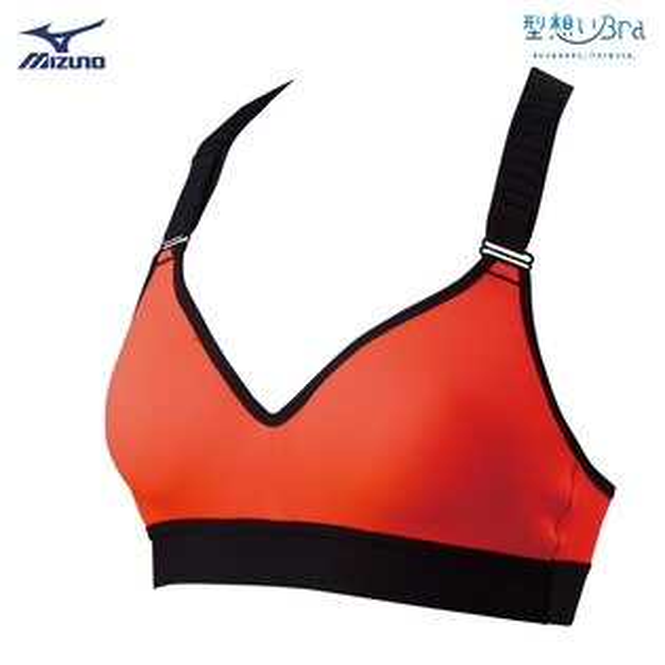 K2MJ8D6063(螢光橘)BIOGEAR中支撐女性運動內衣【美津濃MIZUNO】