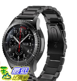 [106玉山最低比價網] Samsung Gear s3 Frontier/classic 黑/銀/玫瑰金 三珠不鏽鋼手錶帶/腕帶