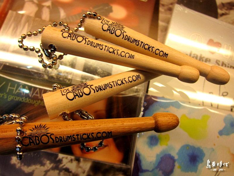 烏克時代~ Los Cabos鼓棒鑰匙圈,使用真正鼓棒頭實木製作,加拿大製作