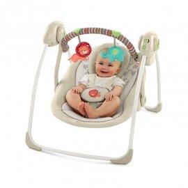 【淘气宝宝】美国 Kids II Bright Stars 携带式安抚摇床玩具组-欢乐动物园~全球专利Truespeed科技