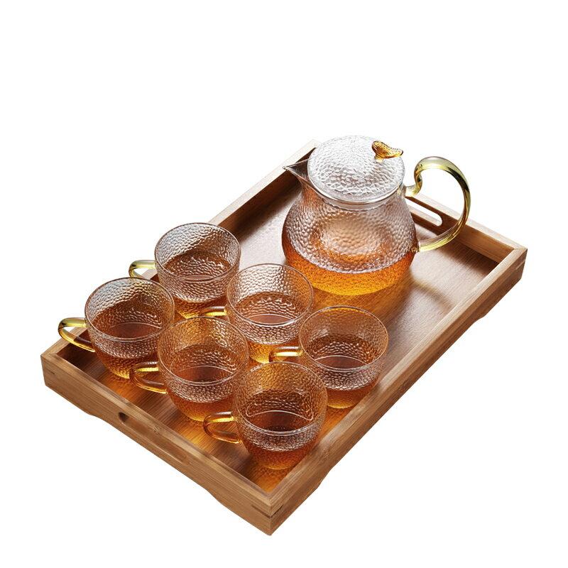 晟窯大容量玻璃茶壺耐高溫日式加厚錘紋泡茶壺套裝家用過濾花茶壺