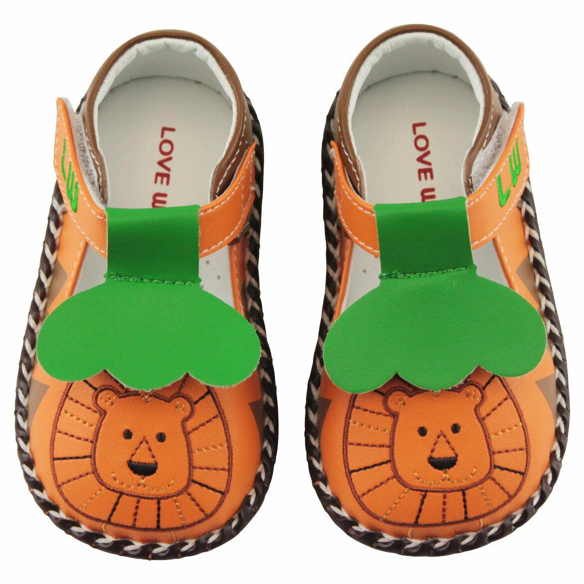 [愛的世界]愛的世界寶寶鞋LW森林之王寶寶鞋橙色台灣製