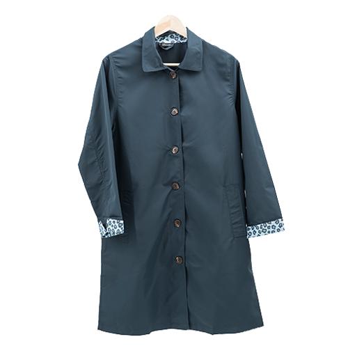 長版豹紋風衣 日系風格穿搭 經典豹紋配色 1