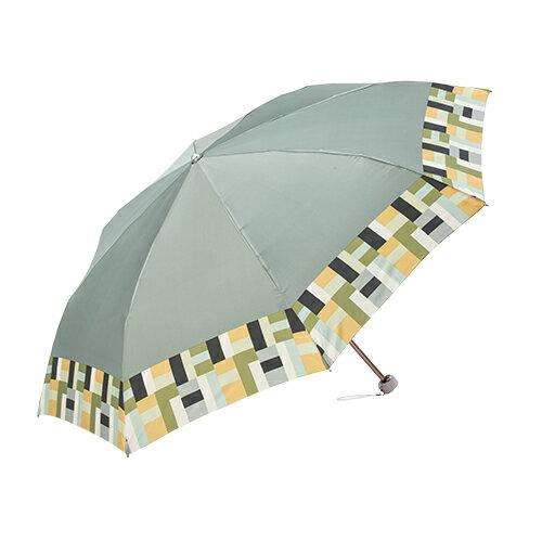 迷你圓格紋沙丁布 手開折傘 日本沙丁布絲綢觸感 2
