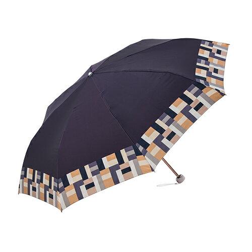 迷你圓格紋沙丁布 手開折傘 日本沙丁布絲綢觸感 4