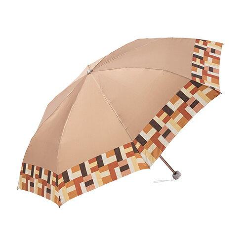 迷你圓格紋沙丁布 手開折傘 日本沙丁布絲綢觸感 0