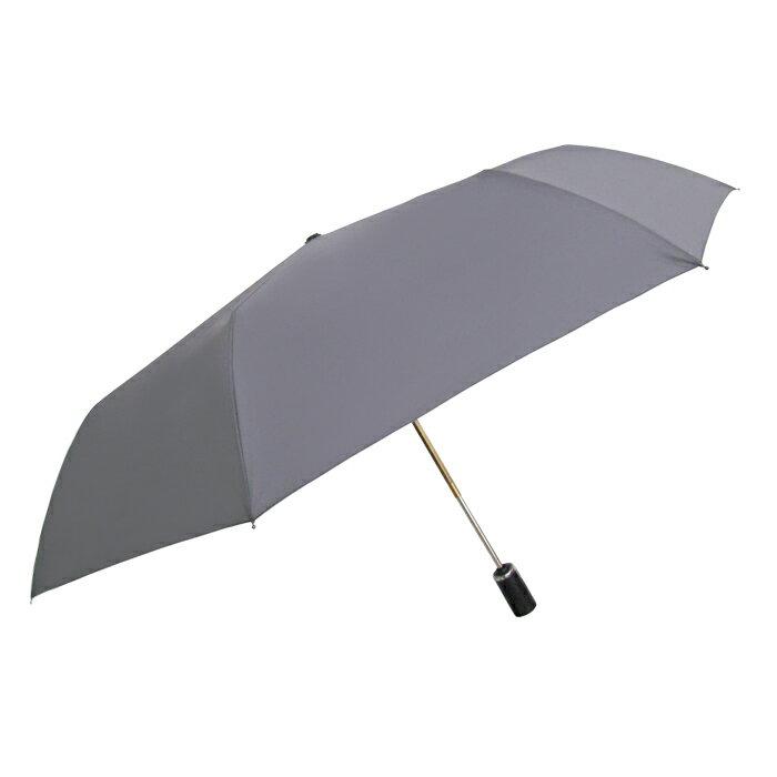 深金屬漆自動折傘 皮雕傘頭 一甩即乾 男士傘 0