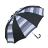 條紋點點雙色自動直傘 可愛俏皮風格 大傘面自動開收 4