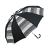 條紋點點雙色自動直傘 可愛俏皮風格 大傘面自動開收 6