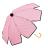 印花點點花瓣手開直傘 特殊花瓣傘面造型 文創商品 0