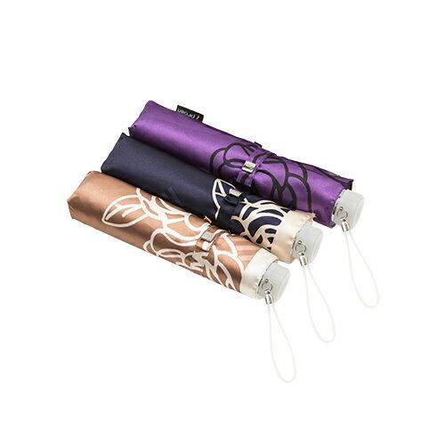 日系玫瑰緞面手開折傘 獨家專利傘架 玫瑰圖騰 6