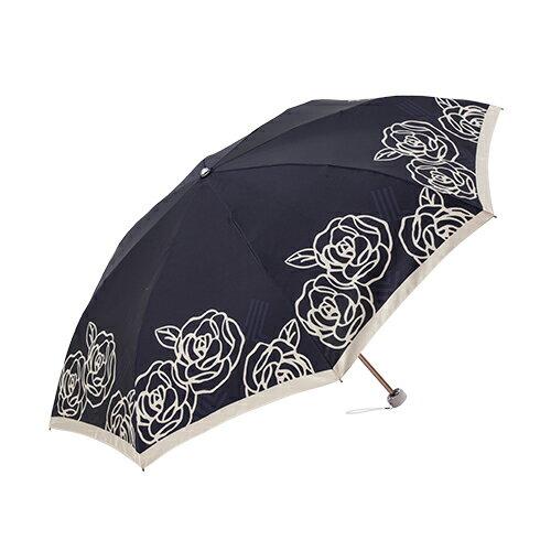 日系玫瑰緞面手開折傘 獨家專利傘架 玫瑰圖騰 2