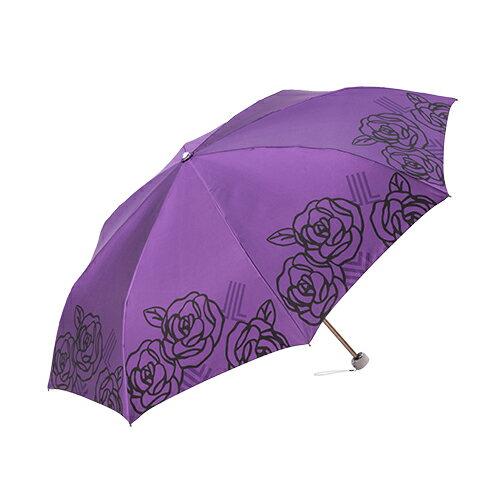 日系玫瑰緞面手開折傘 獨家專利傘架 玫瑰圖騰 4