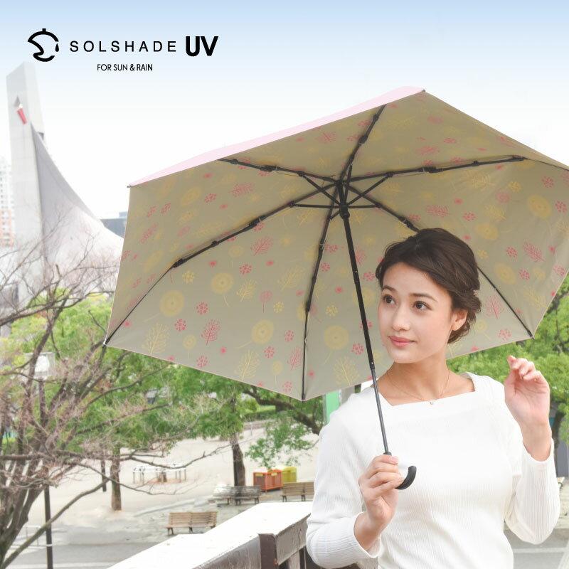 日本 雙骨全遮光北歐傘 新清北歐風 內層印花 防曬遮光傘 2
