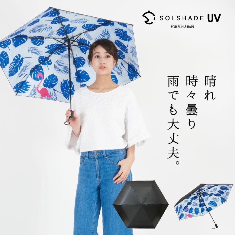 日本 雙骨全遮光紅鶴傘 北歐風 紅鶴棕櫚葉 防曬遮光傘 0