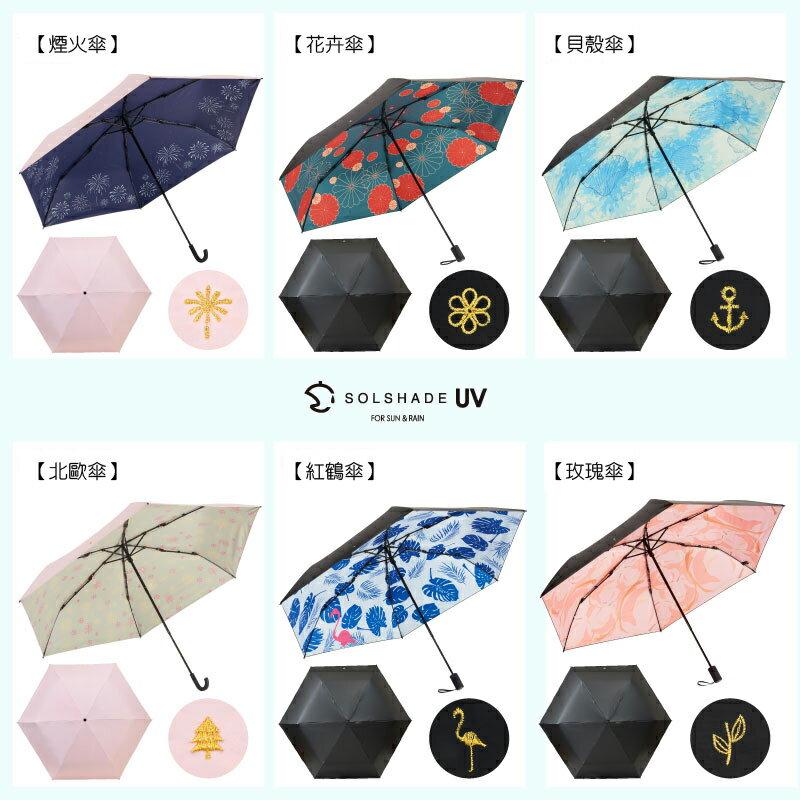 日本 雙骨全遮光紅鶴傘 北歐風 紅鶴棕櫚葉 防曬遮光傘 7