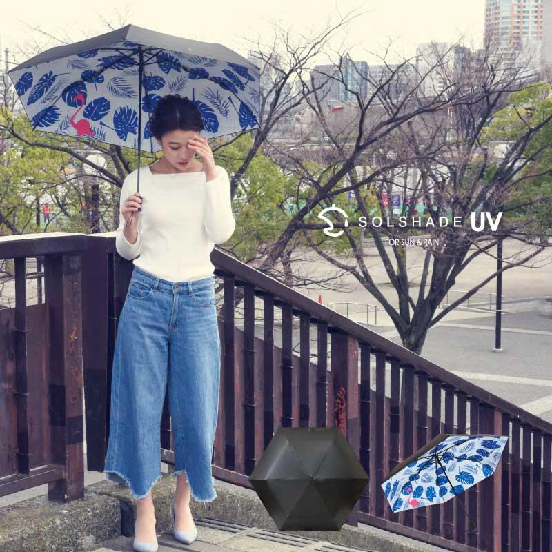 日本 雙骨全遮光紅鶴傘 北歐風 紅鶴棕櫚葉 防曬遮光傘 2