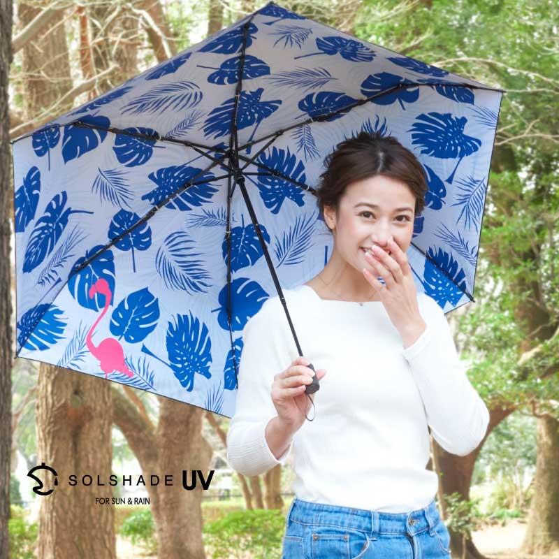 日本 雙骨全遮光紅鶴傘 北歐風 紅鶴棕櫚葉 防曬遮光傘 1