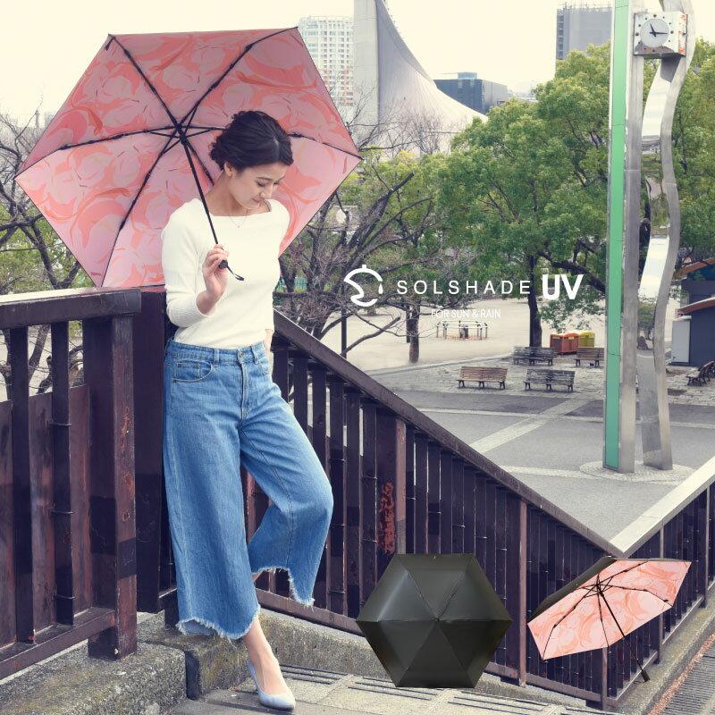 日本 雙骨全遮光玫瑰傘 防曬遮光 優雅晴雨兩用傘 2