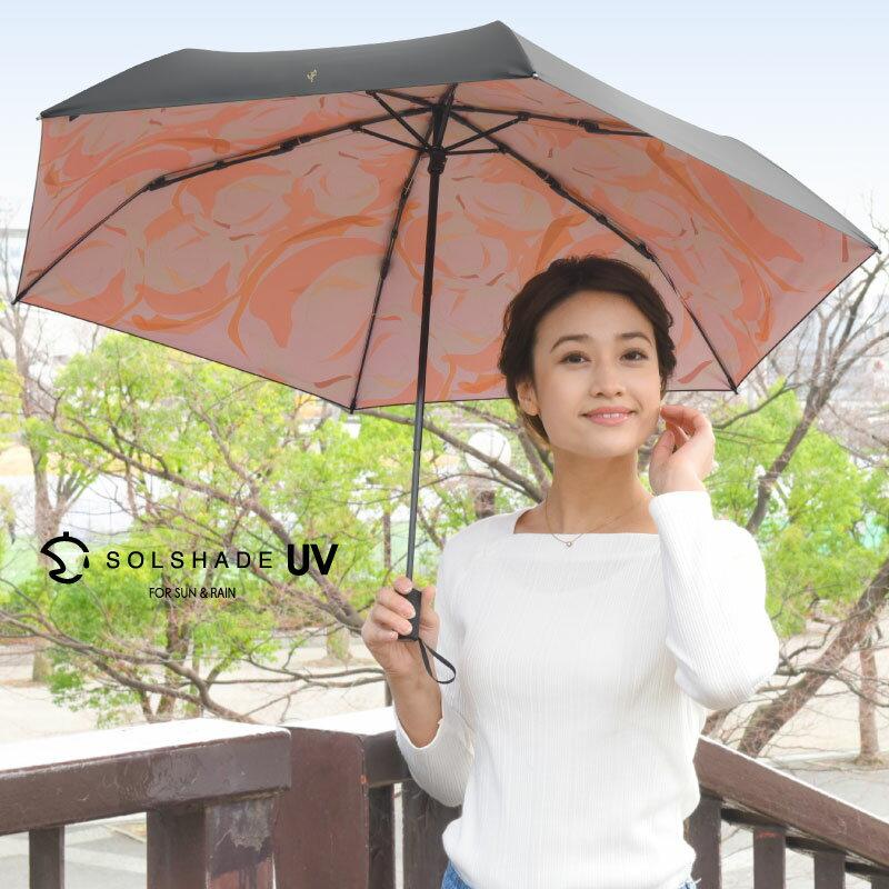 日本 雙骨全遮光玫瑰傘 防曬遮光 優雅晴雨兩用傘 1