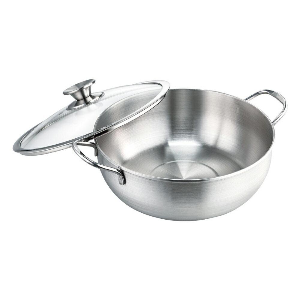 [送濾杓] 台灣製316不鏽鋼極厚萬用湯鍋 28cm 附鍋蓋 IH爐可用【蘋果樹鍋】