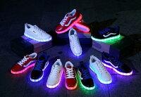情侶鞋推薦到usb充電七彩led光源情侶鞋夜光慢跑鞋就在KAKI推薦情侶鞋
