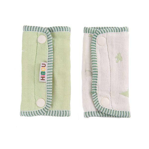 小奶娃婦幼用品:ollobaby瓦吉司-HiBOU喜福-六層紗背巾口水巾(深綠木與鳥)