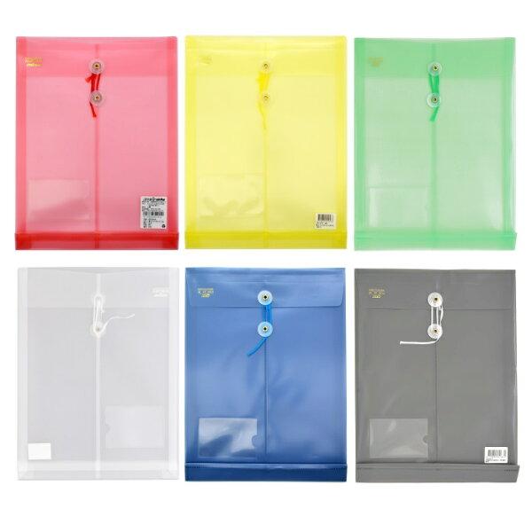 超聯捷HFPWPA4壓花透明文件袋(直式)(附繩)(加名片袋)GF118-N-10(10個入)