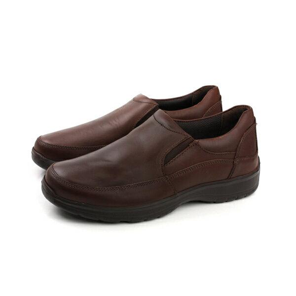 HUMAN PEACE:HushPuppies休閒鞋皮鞋寬楦棕色咖啡色男鞋6173M116502no076
