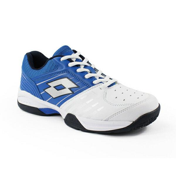 【巷子屋】義大利第一品牌-LOTTO樂得 男款T-TOUR 600 全地型網球鞋 [6806] 白藍 免運