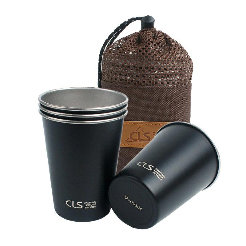 4件套304不鏽鋼杯 贈收納袋 野營杯 登山水杯 咖啡杯 野餐燒烤【EG655】99750走走去旅行 1