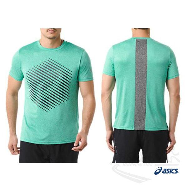 亞瑟士ASICS男短袖T恤(綠)ASICSMOTIONDRY機能乾爽舒適151414-8051【胖媛的店】