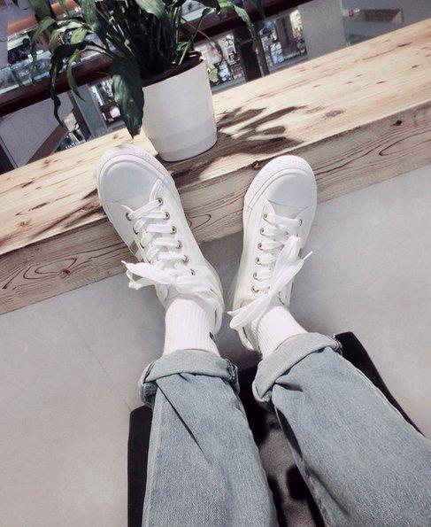 【JP.美日韓】高品質 豆豆鞋 懶人鞋 帆布鞋 低筒鞋 條文 線條 非 adidas 無印 簡約 百搭 小白鞋