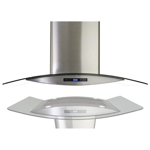 "AKDY 36"" AK-688I/CS14-90 Europe Style Stainless Steel Island Range Hood Touch Control 0"