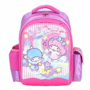 X射線【C943973】雙子星護脊書包S(銀河緞帶.粉色),開學必備/兒童書包/雙肩包/手提包/卡通/後背包/kikilala